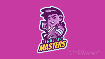 Animated Gaming Logo Maker Featuring a Cartoonish Character 1872g-2935