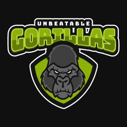 Rugby Logo Creator with a Tough-Looking Gorilla 1619l-2929