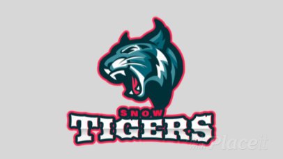 Animated Sports Logo Maker for a Hockey Team with a Tiger Graphic 1560k-2933