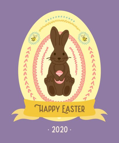 T-Shirt Design Maker Featuring Easter Egg Illustrations 2223