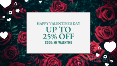 YouTube Ad Video Maker Featuring a Background of Roses for a Valentine's Day Promo 2032