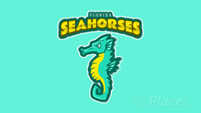 Animated Logo Maker for a Sports Team Featuring a Seahorse Clipart 120jj-2932