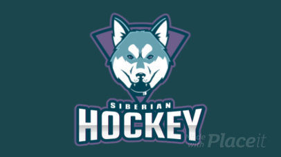 Animated Hockey Logo Generator Featuring a Siberian Husky Illustration 1560l-2937
