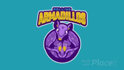 Animated Mascot Logo Generator with a Cute Armadillo 120nn-2929