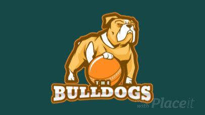 Animated Sports Logo Generator Featuring a Bulldog Holding a Cricket Ball 1649i-2937