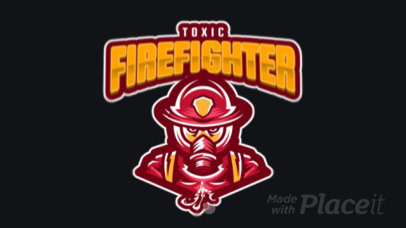 Animated Logo Maker Featuring a Firefighter with a Gas Mask 1869x-2927