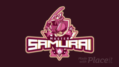 Animated Basketball Logo Maker with a Samurai Character Illustration 1748aa-2937