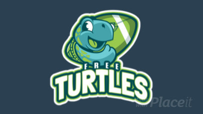 Animated Football Logo Maker with a Friendly Turtle Mascot 245aa-2937
