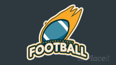 Animated Logo Template for a Sports Team With Football Graphics 245cc-2934