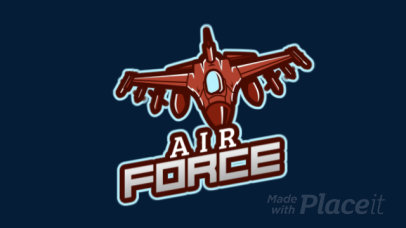 Animated Logo Maker for a Gaming Squad Featuring a Jet Graphic 2637v-2926