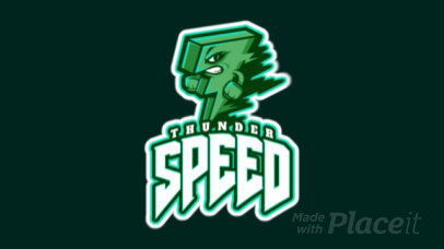 Animated Gaming Logo Creator Featuring a Thunder Graphic 1745n-2926