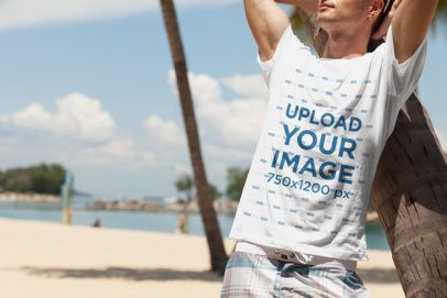 Mockup of a Man Wearing a T-Shirt in a Relaxed Pose 2747-el1