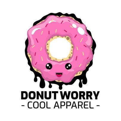 Cool Apparel Logo Creator with a Cartoonish Donut Graphic 252g-el1
