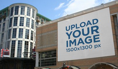 Mockup Featuring a Billboard on a Modern Building 2743-el1