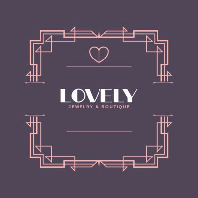Logo Template for a Jewelry Boutique with Art Deco Style Ornaments 796b-el1
