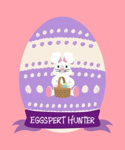 Easter T-Shirt Design Generator Featuring a Cute Bunny Graphic 2223d