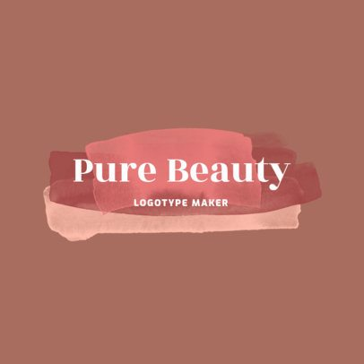 Beauty Logo Creator with Watercolor Patterns 2922g