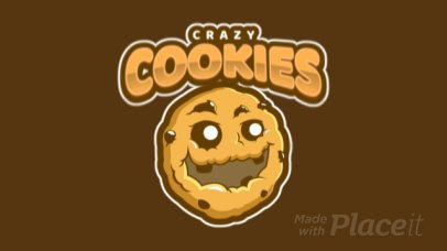 Animated Logo Maker for a Sports Team with a Happy Cookie Graphic a484s-2936