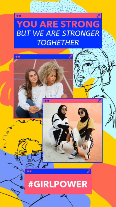 Girl Power Instagram Story Maker 2261s