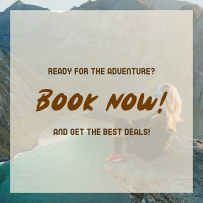 Promotional Instagram Post Template for Adventure People 2240b