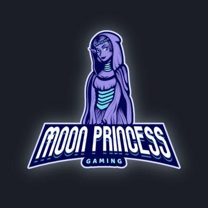 Gaming Logo Generator Featuring a Moon Princess Graphic 2915j