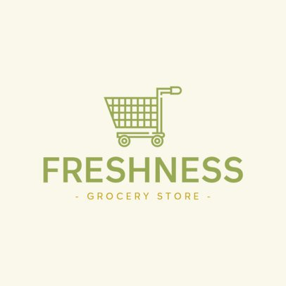 Grocery Store Logo Generator Featuring a Shopping Cart Silhouette 832b-el1
