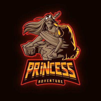 Gaming Logo Maker with a Warrior Princess 2915i