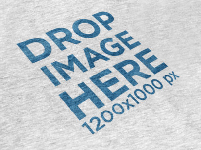 Heather T-Shirt Close-Up Mockup in Angled View a12019