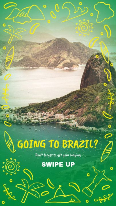 Travel Instagram Story Maker for a Brazil Trip 2236a