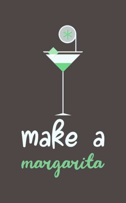 T-Shirt Design Maker with a Margarita Cocktail Graphic and a Phrase 799c-el1