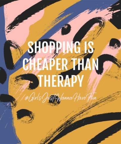 Tote Bag Design Generator Featuring a Funny Shopping Quote 2287h