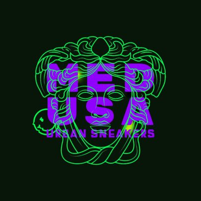 High-End Logo Maker for a Streetwear Brand Featuring a Medusa Graphic 2954C