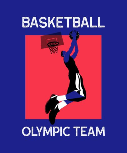 Sports T-Shirt Design Generator Featuring an Olympic Basketball Player 2280c