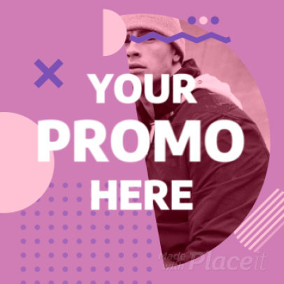 Instagram Video Maker for Special Promos Featuring Simple Geometric Animations 1536