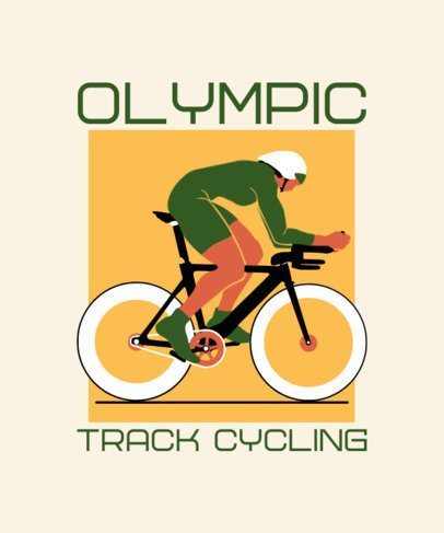 Olympics T-Shirt Design Template Featuring a Cyclist 2280f
