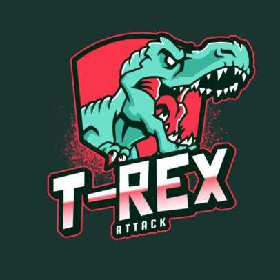 Gaming Logo Template Featuring a T-Rex 2953a