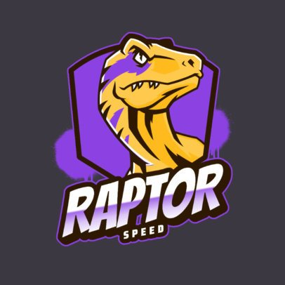 Logo Maker with a Velociraptor Graphic 2953d
