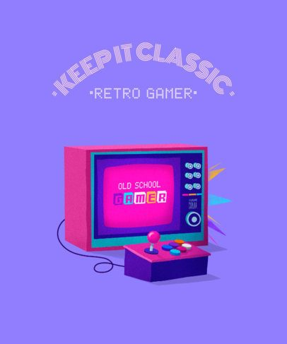 Gaming T-Shirt Design Creator with a Classic Television 2284e