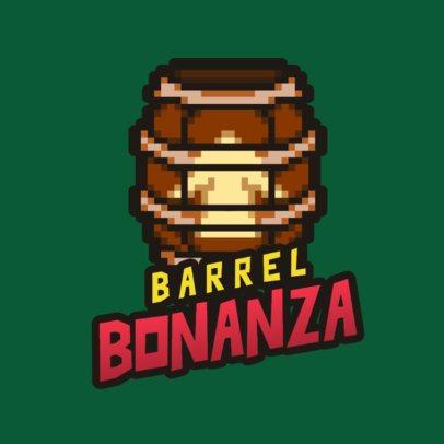 16-Bit Gaming Logo Maker Featuring a Barrel 2951c