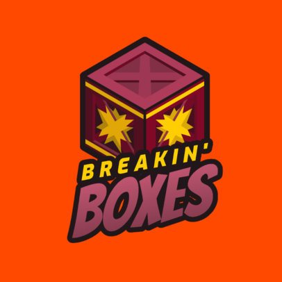 Speedrunning-Themed Gaming Logo Maker with a Crash Bandicoot-Inspired Graphic 2951f