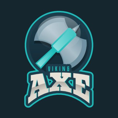 Gaming Logo Creator with a Viking Axe Clipart 2613gg-2964