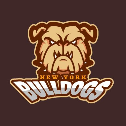 Sports Logo Generator Featuring an Aggressive Bulldog Illustration 336y-2964