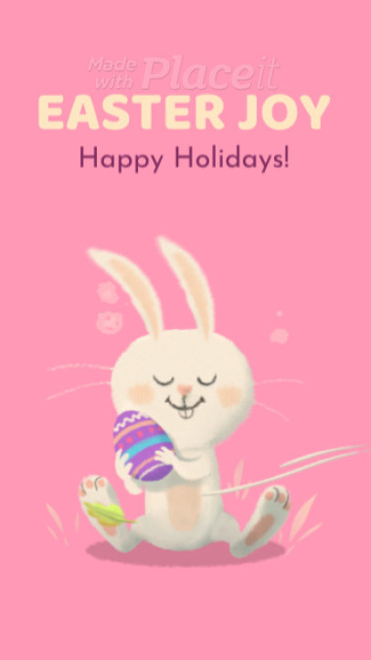 Instagram Story Video Maker Featuring an Adorable Easter Bunny 1983
