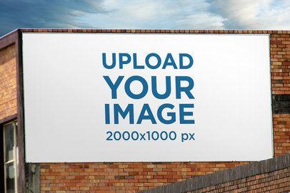 Mockup of a Billboard Placed on a Brick Wall 2879-el1
