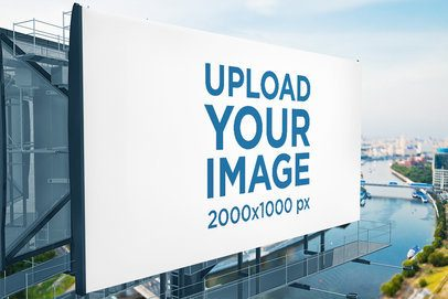 Billboard Mockup Featuring a Modern Structure over a River 2858-el1