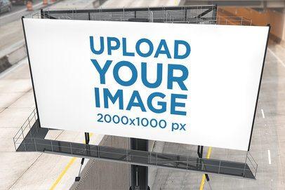Mockup of a Billboard Placed on a Highway 2860-el1