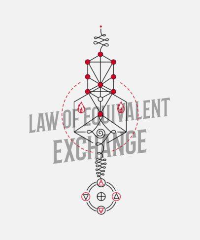 T-Shirt Design Creator with Complex Unalome Illustrations 291c-el1