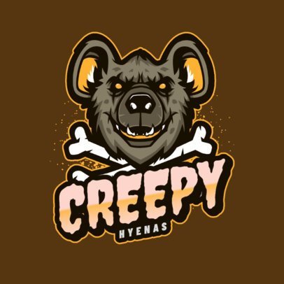 Gaming Logo Maker Featuring a Creepy Hyena Graphic 2975b