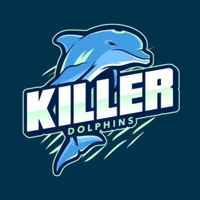 Logo Maker for a Gaming Squad Featuring a Killer Dolphin 2975c