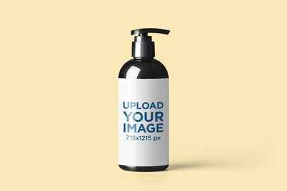 Dispenser Bottle Mockup Featuring a Customizable Background 2564-el1